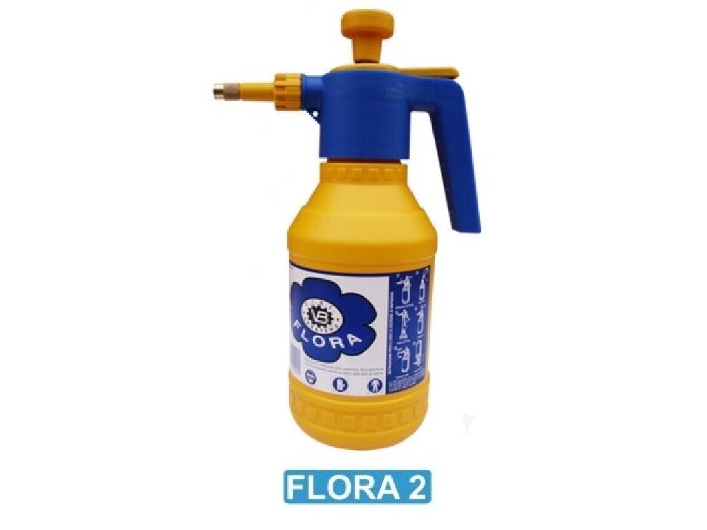 Pompa a pressione flora 2 con ugello in ottone e guarnizioni in vitron