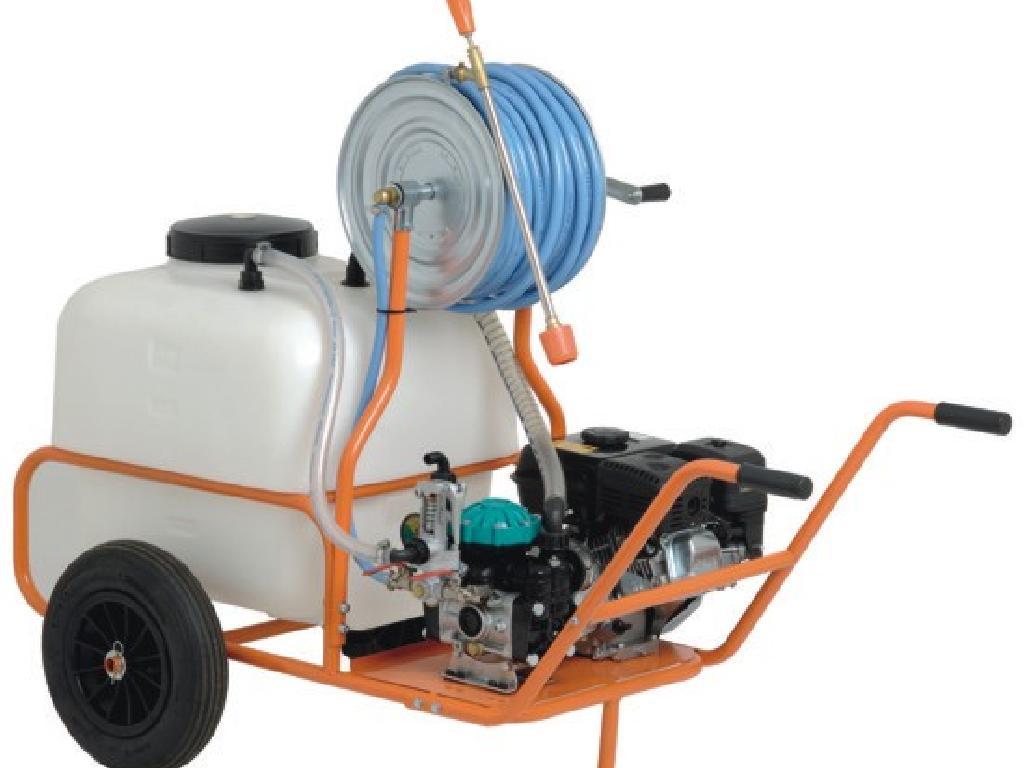 Carriola a 2 Ruote con serbatoio da 120 Litri Motore 4T tubo 40 bar