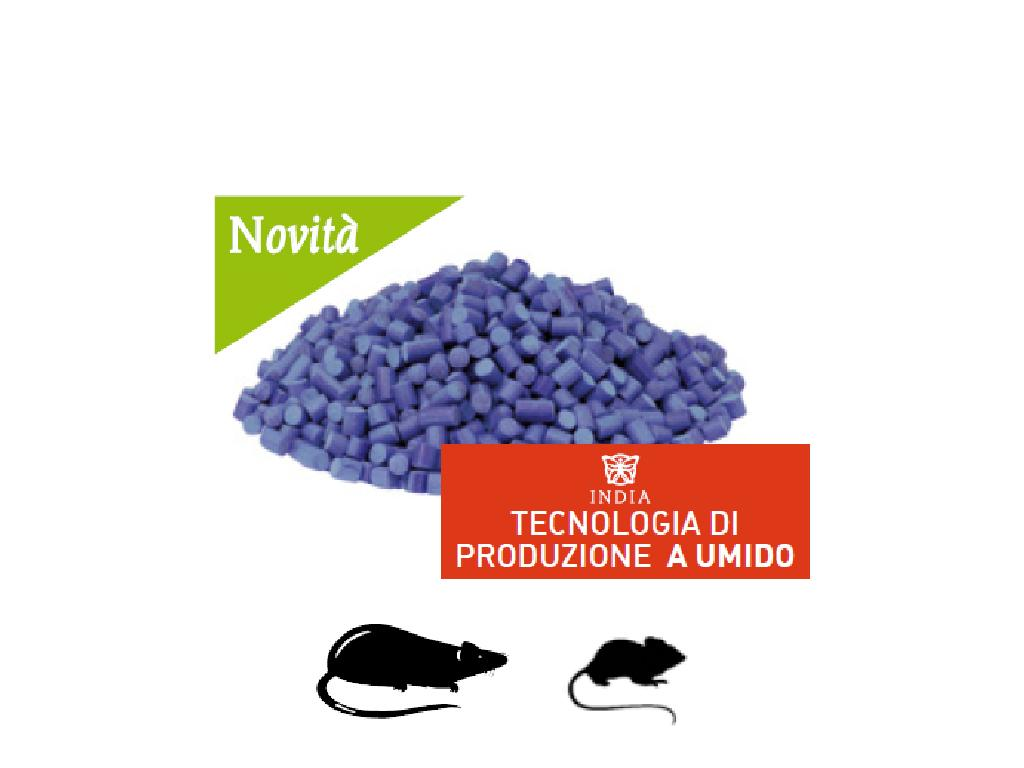 FACORAT Esca rodenticida aromatizzata pronta all'uso in pellet